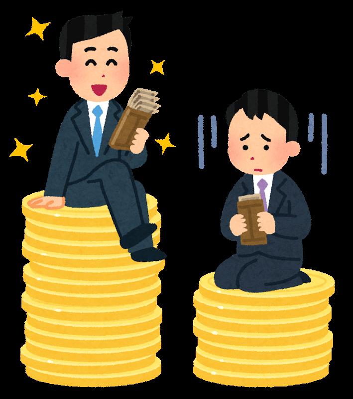 給料が多い人と少ない人-格差社会