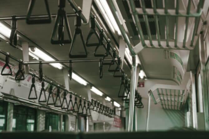 電車内のつり革