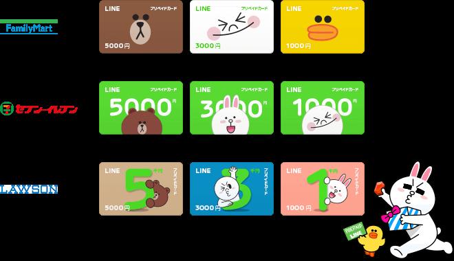 LINE-プリペイドカードの値段・種類