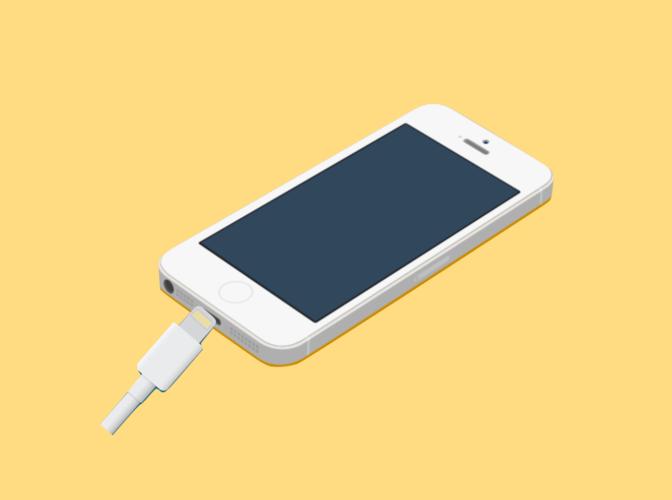 電源を切ってiPhoneを充電