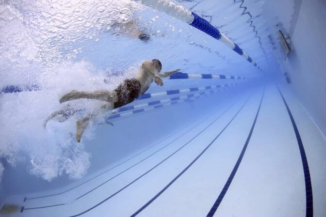 オリンピック-水泳-TV