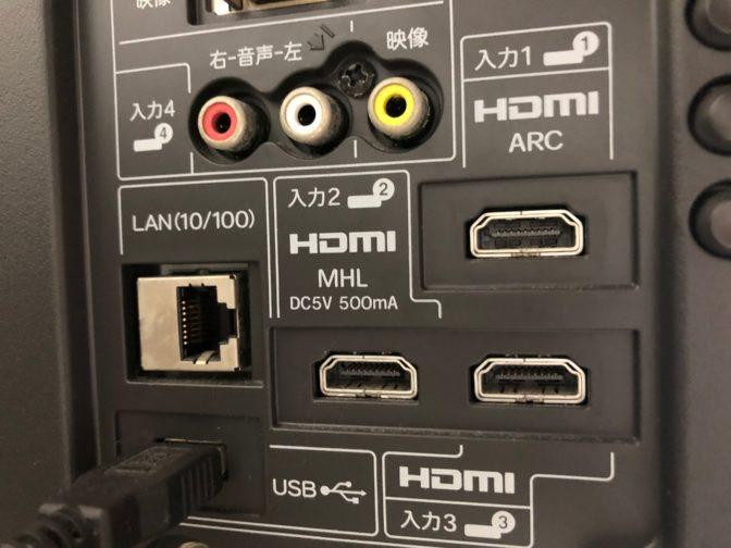HDMI-テレビに接続