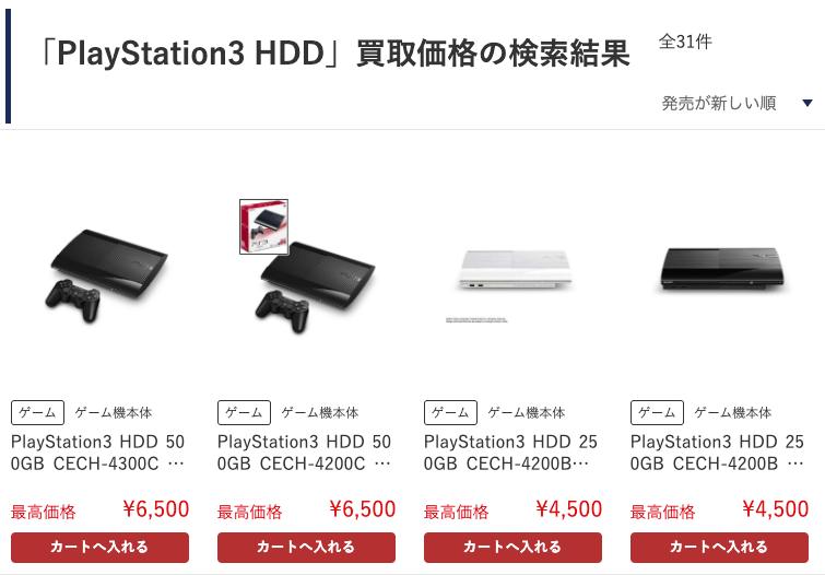 ps3-ゲオ-買取価格