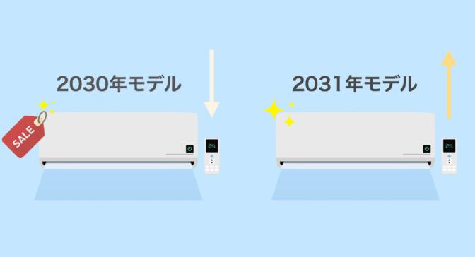 エアコンの型落ちモデルが安くなる