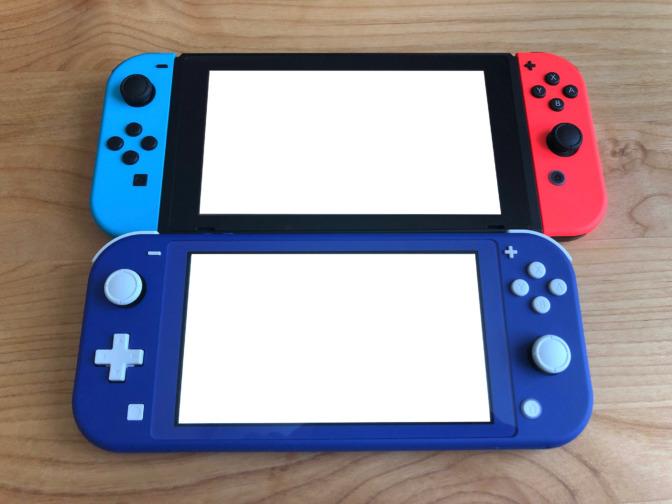 Nintendoスイッチとライトの画面サイズの比較