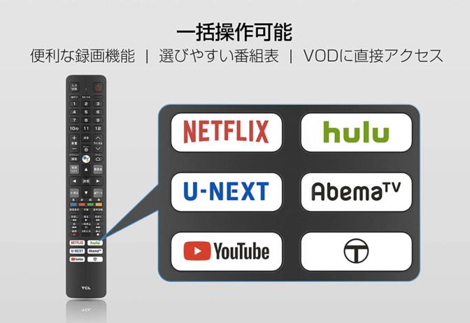 スマートテレビのリモコン-tcl